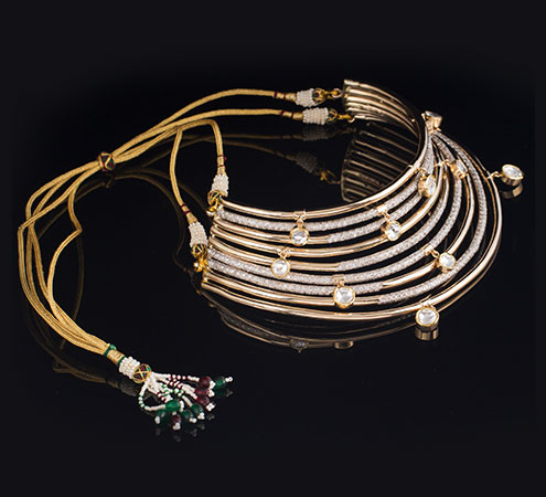 Rainbow Diamond Necklace